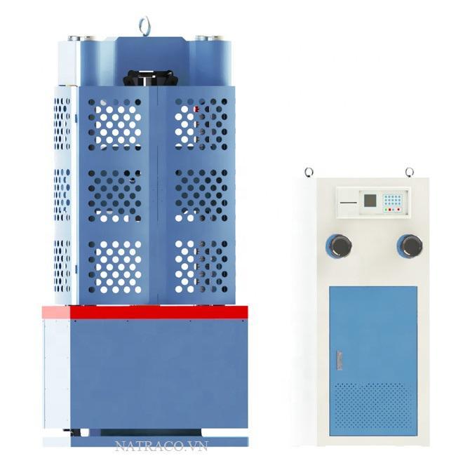 MÁY KÉO THÍ NGHIỆM THÉP ĐIỆN TỬ 100 TẤN là thiết bị được dùng để thí nghiệm kéo thép, uốn thép và thí nghiệm kéo, nén uốn một số loại vật liệu xây dựng khác như bê tông xi măng, vữa xi măng, gạch xây. Nhằm đánh giá, kiểm tra chất lượng vật liệu xây dựng. Ngoài ra nó còn có thể dùng để kéo bulong, kéo cáp bằng các bộ gá chuyên dụng. Máy kéo thép Model: WA-1000B do hãng LUDA của Trung Quốc thiết kế và chế tạo, đây là một hãng rất có uy tín trên thị trường về ngành thiết bị thí nghiệm và kiểm định xây dựng.